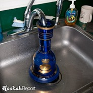 Filling hookah base with water